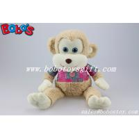 CE Approved Super Soft Stuffed Monkey Animals With Pink T-shirt Manufactures