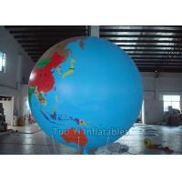 China Multifunction Globe Round Earth Balloon / Customized Design World Helium Ball on sale