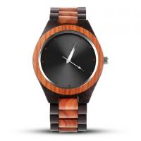 elegant hot sales wooden watch boxes cases wood strap waterproof unisex wood watches Manufactures