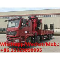 China high quality and best price SHACMAN delong 8*4 LHD 340hp 30T knuckle crane boom mounted on truck for sale, truck crane on sale
