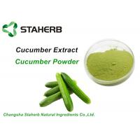 Organic Dehydrated Cucumber Extract PowderLight Green For Food / Cosmetic Manufactures