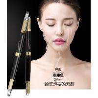 Black Multifunctional Microblading Eyebrow Tattoo Pen Double Heads 30G OEM Manufactures