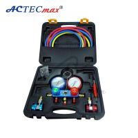 China Accuratemanifold gauge , Aluminum r134a / r22 Pressure Gauge With Rubber Hose on sale