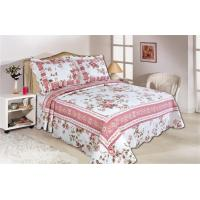Pink Color Full Size Comforter Sets Home Textile Printed Quits With Frame ISO9001 Manufactures