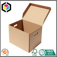 Custom Structure Corrugated Cardboard Paper Packing Box with Cutout Handle Manufactures