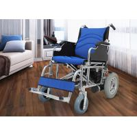 Medical Electric Folding Wheelchair , Fold Up Wheelchair Chrome Plated Steel Manufactures