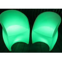 Quality Outdoor Plastic LED Light Chair 16RGB Rechargeable Bar Chairs And Tables for sale
