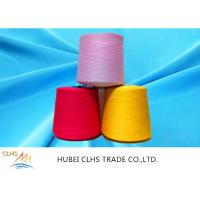 100% Virgin Spun Dyed Polyester Yarn 40 / 2  AA Grade For Sewing Thread / Embroidery Manufactures