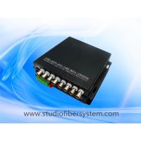 compact 8CH CVI video audio fiber transmitter and receiver for remote CCTV surveillance system Manufactures