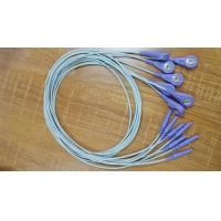China Mortara Holter Cable ECG Lead Wires 10 Leadwires Snap DIN Style on sale