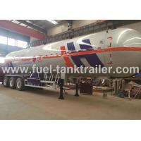 Air Suspension 3 Axle LPG Tank Trailer , Lpg Transport Trailers Big Effective Capacity Manufactures