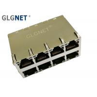 Buy cheap Stacked RJ45 Modular Jack 2 x 4 PCB Mounting Style -40 ℃ - 85 ℃ Operating from wholesalers