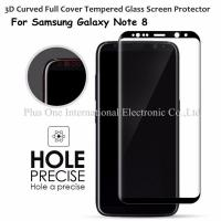 3D Full Cover Tempered Glass Screen Protector 0.33mm 9H Anti Shock Case Friendly for Samsung Galaxy Note 8 Manufactures