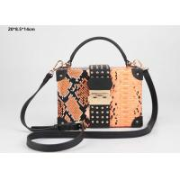 New style snake pattern PU leather hard case clutch purse with shoulder strap Manufactures