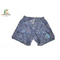 Sublimation Printing Waterproof 4 Way Stretch Mens Printed Swim Trunks Manufactures
