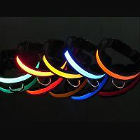 2012 New Woven Optic Fiber LED Flash Dog Collar Manufactures