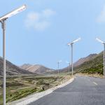 High Illumination All In One Solar LED Street Light Aluminum Lifepo4 Battery Manufactures