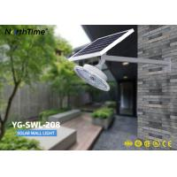 60 Leds Integrated Solar Powered LED Garden Wall Lights With Pole 165 Degree Beam Angle Manufactures