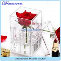 Customized Clear Acrylic Luxury Rose Flower Gift Box with Lid Manufactures