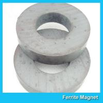 Y35 Grade Permanent Ferrite Ring Magnet SrO / Bao And Fe2O3 Material