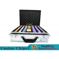 Stripe Suited Casino Poker Chip Set , 12g Poker Chip Sets With Denominations Manufactures