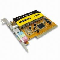 Analog TV Tuner Card with S-Video, PCI, FM Radio, and Remote Control Manufactures