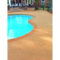 EPDM Pool Rubber Flooring , Outdoor Rubber Surfacing For Pools And Patios Manufactures