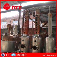 Copper Whiskey Still Copper Brewery Equipment 100L-5000L SUS304 M anual Manufactures