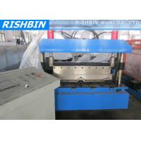 Aluminum Steel Panel Boltless Roof Roll Forming Machinery 10 Stations Manufactures