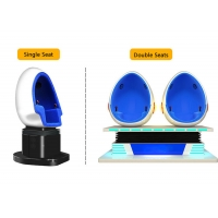 2 Person 9D Cinema Simulator / Electric System Virtual Reality Egg Chair Manufactures