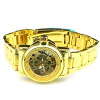 China Hollow Golden Bangle Ladies Automatic Watch 28mm Case With Jewelry on sale