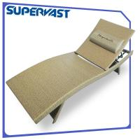 Comfortable Outdoor Patio Chairs Living Garden Poolside PE Rattan Chaise Lounge with Sling Pillow Manufactures