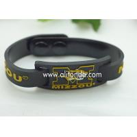 FREE SAMPLE Debossed color filled rubber wrist bands cheap bracelet custom silicone Manufactures