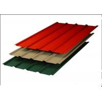 Aluminum Zinc Corrugated Steel Sheets , Red Corrugated Steel Roof Panel Manufactures