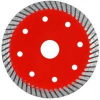 Durable Turbo Wave Diamond Tile Saw Blade With Cooling Hole Red Color Manufactures