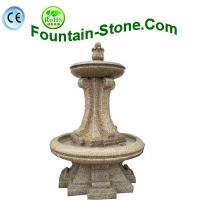 Chinese Yellow Rust Granite Water Fountain For The Garden, Plaza Manufactures
