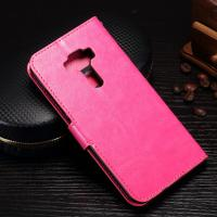 Quality Protective Cell Phone Leather Wallet Case For Zenfone 3 Magnetic Close for sale