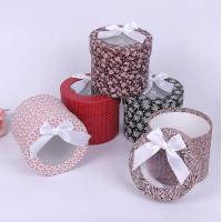 High-grade scarves round box flowers gift box packaging box Manufactures