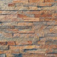China Natural stone Slate Culture Stone Brown Copper Quartzite Cultured Stone on sale
