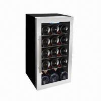 15-bottle Single Zone Wine Cooler, 56L/1.98cu.ft Volume, R600a, Free Standing, Wire Shelves Manufactures