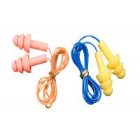 3.1g / Pair Tree Shape Sound Proof Ear Plug Silicone With Plastic Cord Manufactures