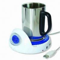 USB Mug Warmer with USB Hub, Customized Colors are Accepted Manufactures