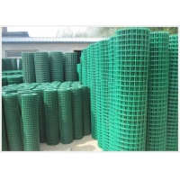 China plant 15.9mm Green Vinyl Coated Welded Wire Fencing Rolls on sale
