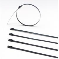 Epoxy Coated SS Fiber Optic Ethernet Cable Ties Halogen Free Coating ISO Compliant Manufactures