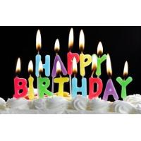 China Number candles Letter candles Happy birthday candles on sale