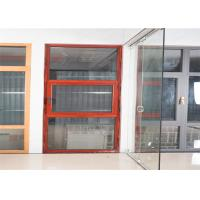 Hidden Hinge Aluminium Glass Window Site Red Inside And Outside Windows Manufactures
