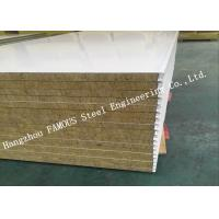 China High Density Sound Insulation Rock Wool Sandwich Panels Fire Proof Wall Panel on sale