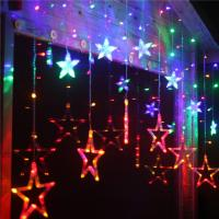 Multicolor Star Moon 0.06w Ip44 IcicleDecorative Led String Lights For Weddings Manufactures