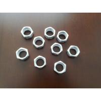 1.25mm Pitch M12 Hex Lock Nut Q235 Materail Electroplating Zinc Finish Color Manufactures