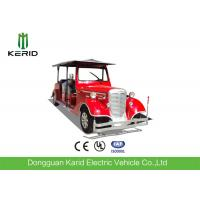 Elegant Classic Design Red Color Vintage Club Car 4 Row For 11 Passenger Manufactures